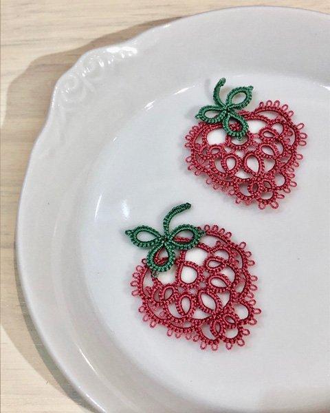 画像1: Aphyuオリジナルキット(アシスト動画QRコード付)【ルビーチョコレート色のかんたんイチゴ】 (1)